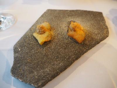 Appetittvekker 2: Potetchips med piggsoppkrem