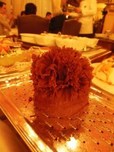 Dessert: Sjokoladekaken President fra dessertbordet