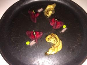 Servering 11 Sjøkreps, estragon og rødbete