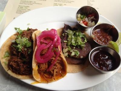 Tacos Fra venstre svin, lam og oksetunge