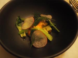 Rett 2: Skalldyrbisque, sjøkreps og agurk