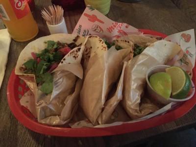 Tacos med svin, okse og kylling