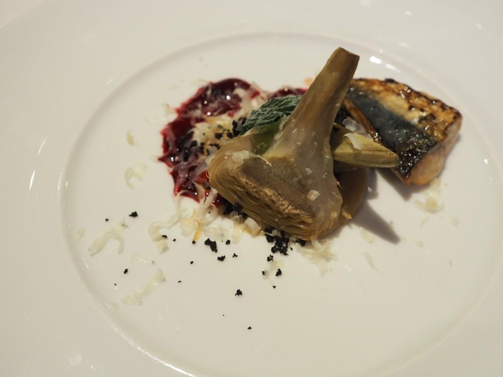 Makrell og artiskokk