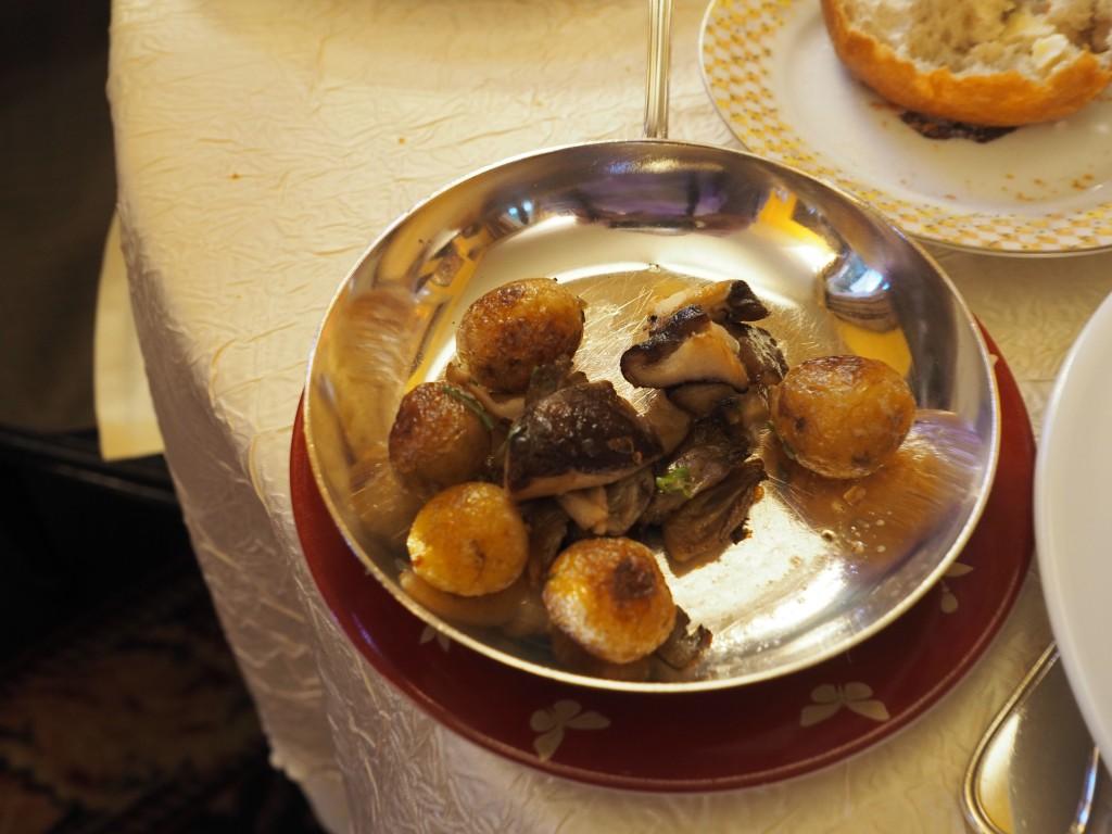 Poteter og shiitake