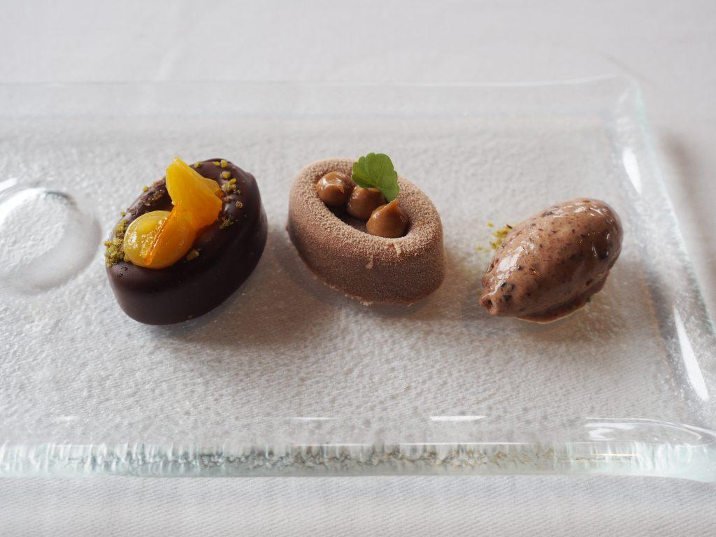 Predessert av sjokolade