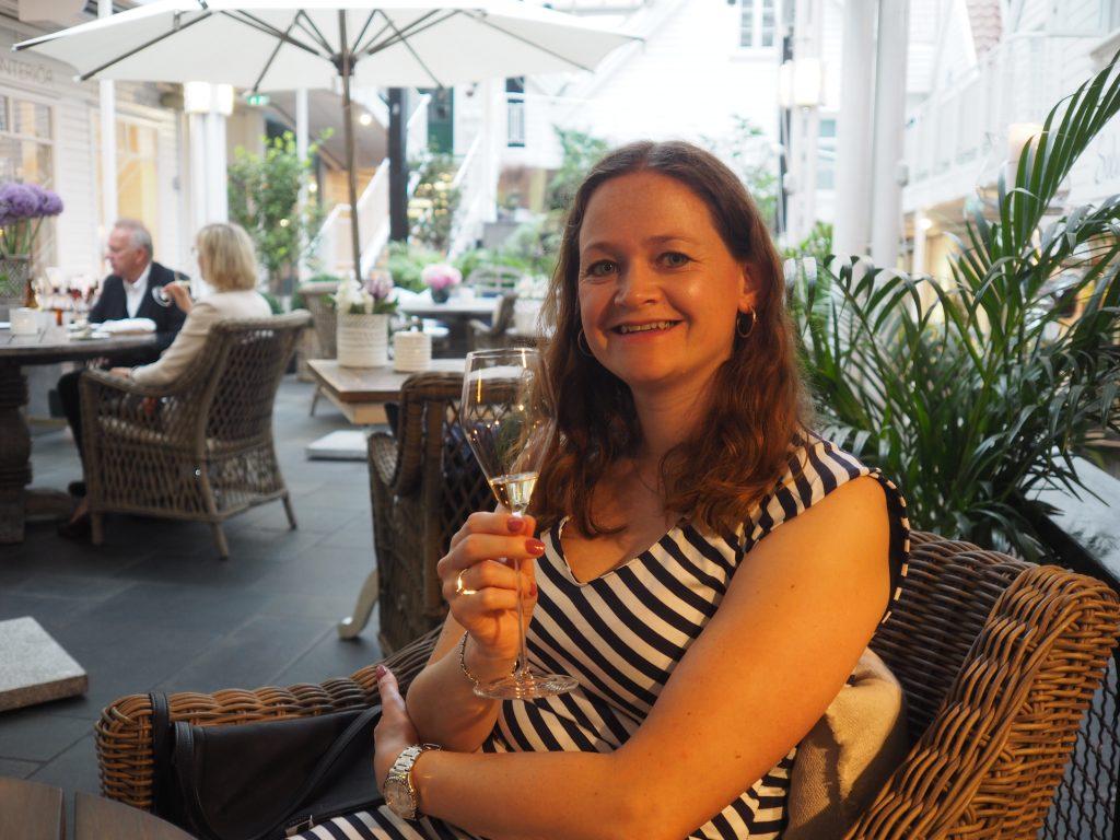 Champagne i bakgården Champagne i bakgården