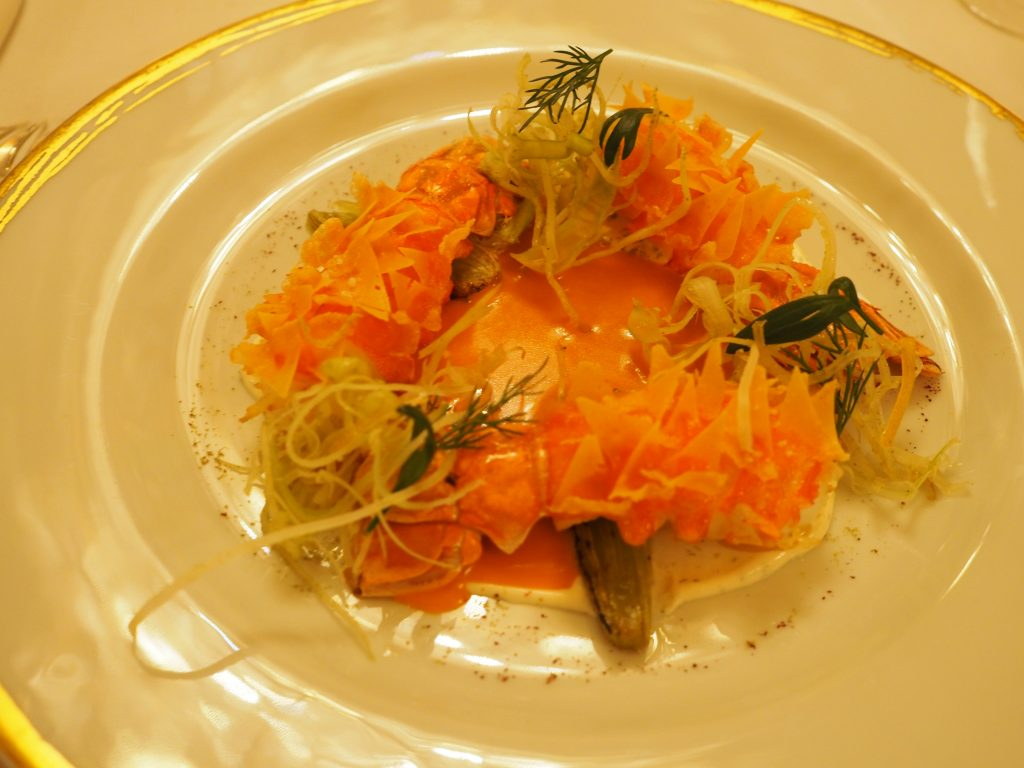 Sjøkreps, fennikel, sitron og tapioka