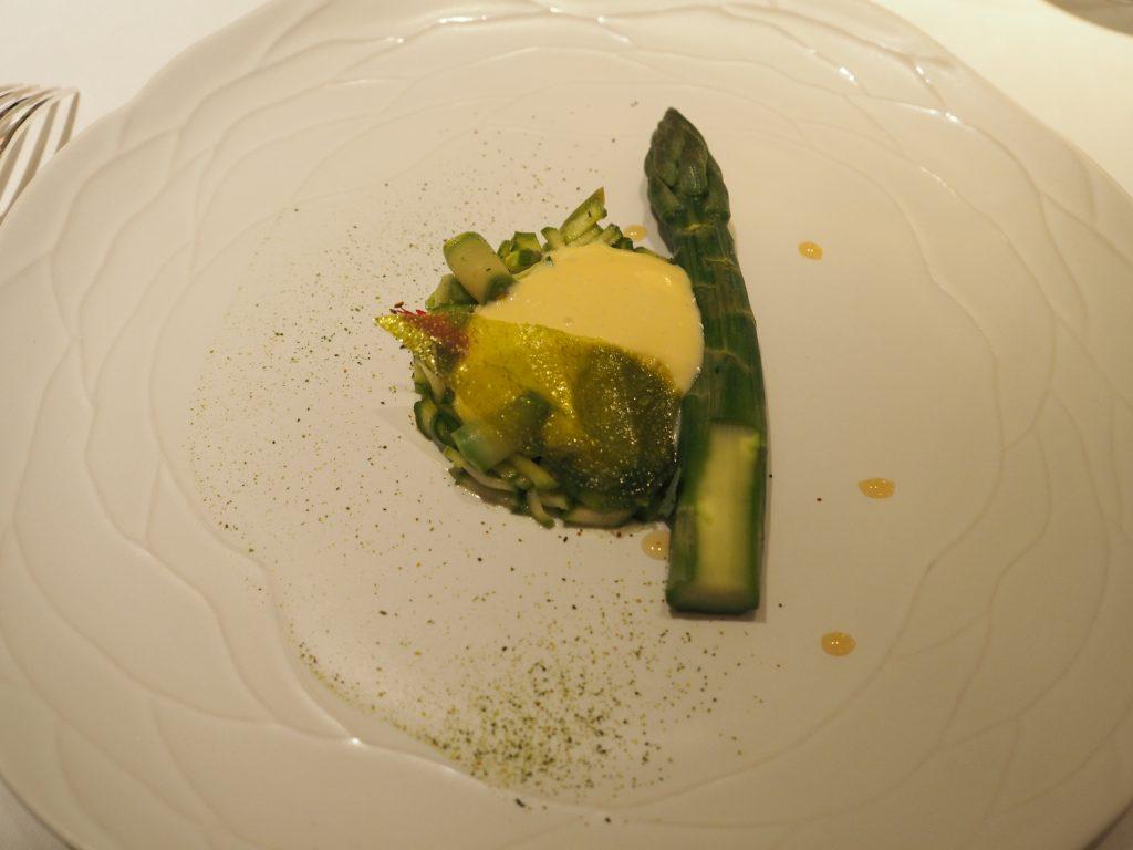 Asparges og zabaione