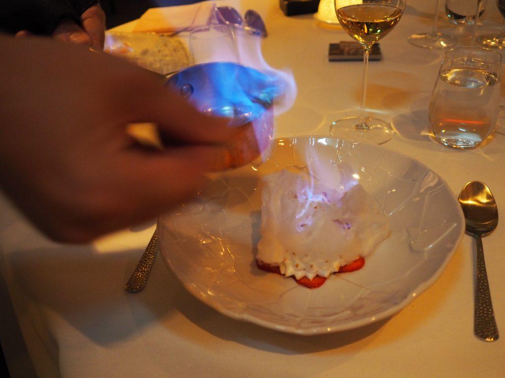 Omelette Norvégienne - flambering