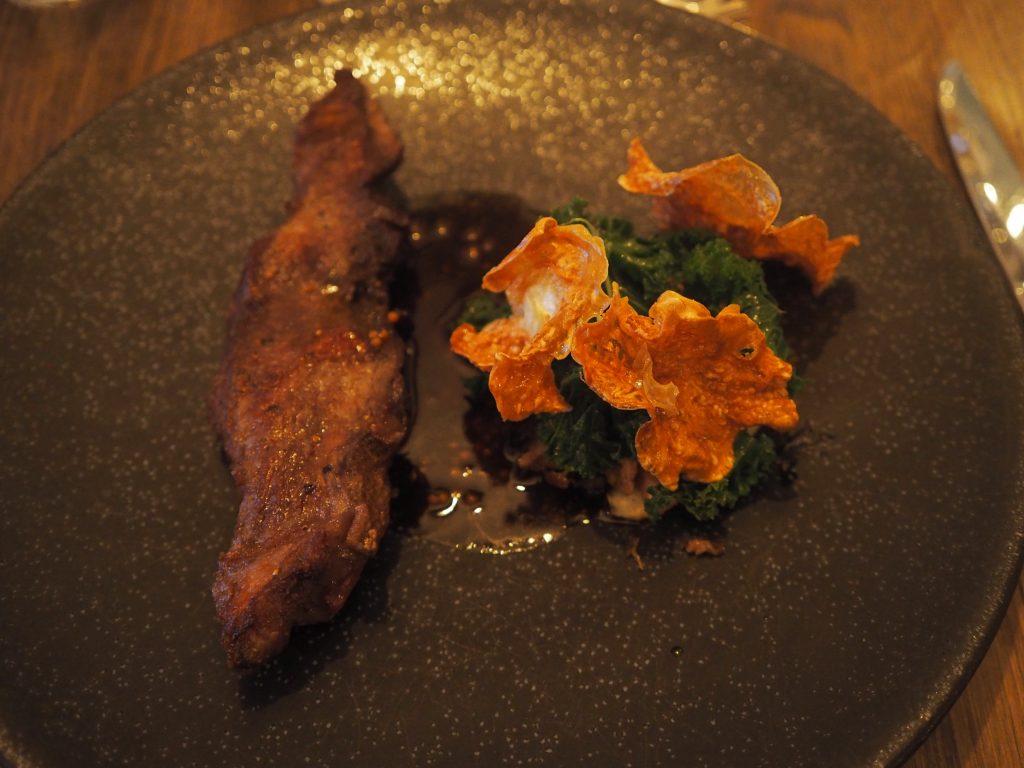 Mangalista-svin, grønnkål (og potetpuré)
