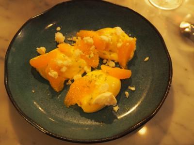 Dessert: Sitronkrem med appelsin og marengs