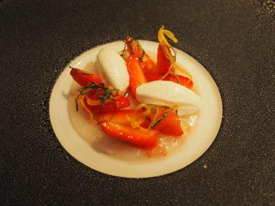Sjøkreps, jordbær og feta